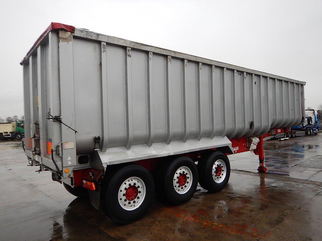 Crane Fruehauf 58 Cu Yd Aluminium Bulk Tipping Trailer